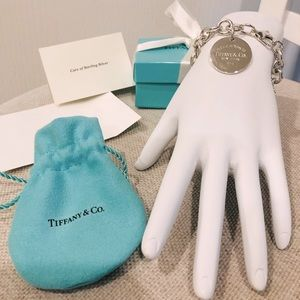 Retired Tiffany & Co. Engravable Charm Bracelet